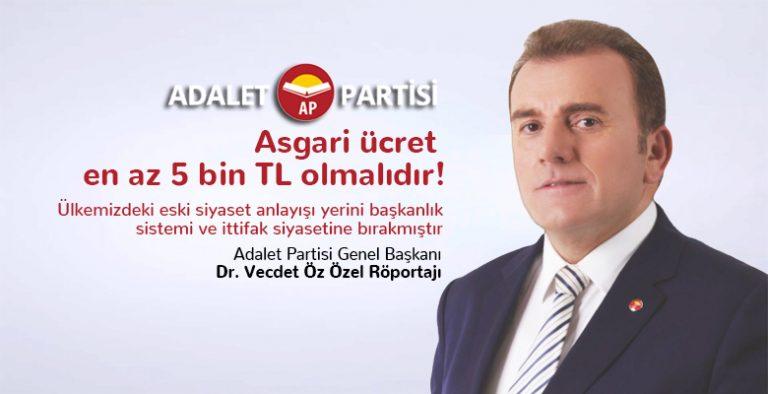 adalet partisi genel baskani dr vecdet